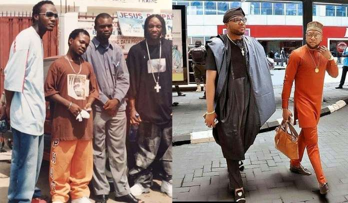 E-Money and Kcee throwback pictures.